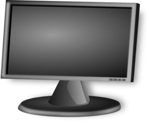 lcd monitor clipart - photo #13