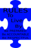 Rules Poster Clip Art