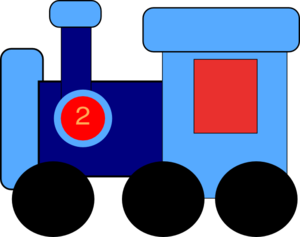 Blue Train Clip Art