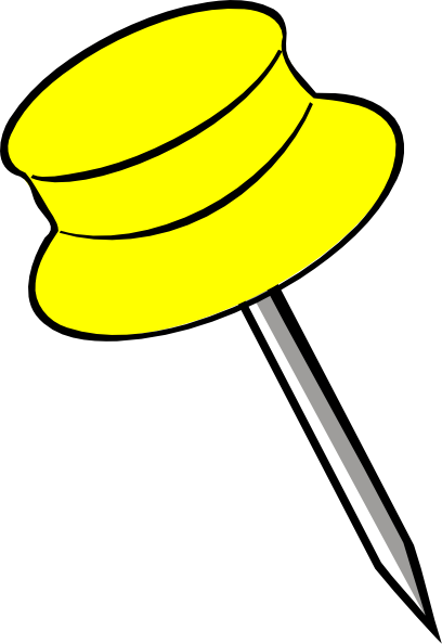 yellow pin clipart - photo #22