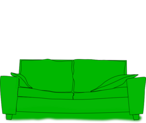 Green Couch Clip Art