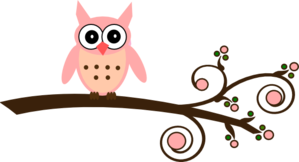 Mirabella Owl On Branch Clip Art