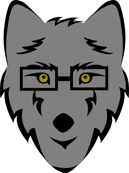 wolf with glasses clip art at clker com vector clip art online rh clker com wolf clipart free wolf clipart images