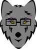 Wolf With Glasses Clip Art