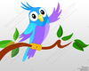 Cute Cartoon Parrot Full Image
