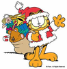 Merry Christmas Cat Clipart Image