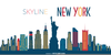New York Skyline Clipart Free Image