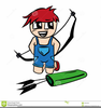 Clipart Boy Bow Arrow Image