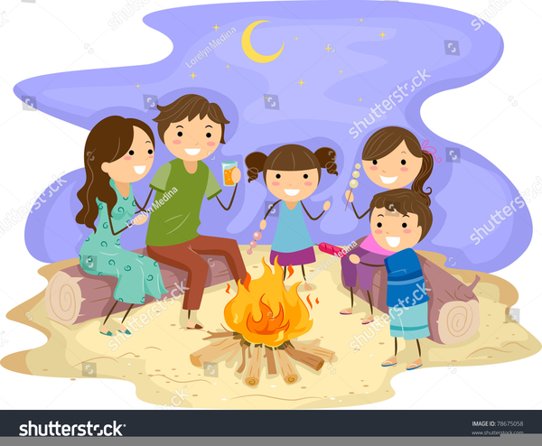 Beach Bonfire Clipart ...