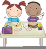 Kids Lunch Clipart Image