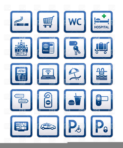 Clipart Hotel Icon Set | Free Images at Clker com - vector clip art
