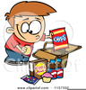 Eating Junk Food Clipart Image