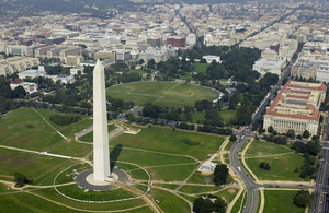 Aerial View Of The Washington Monument Image