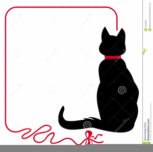 Black And White Clipart Of Cats Image