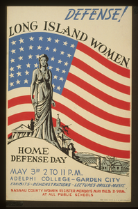 Defense! Long Island Women : Home Defense Day : Exhibits - Demonstrations - Lectures - Drills - Music / Jd. Image