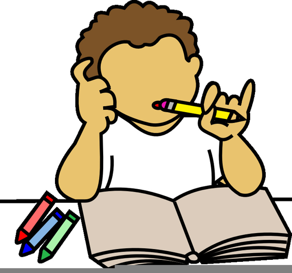 boy doing homework clipart free images at clker com vector clip rh clker com child doing homework clipart do your homework clipart