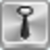 Free Silver Button Tie Image