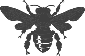 Dark Gray Bee Clip Art