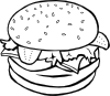 Hamburger (b And W) Clip Art