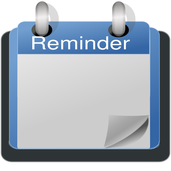 Clip Art Calendar Reminder : Blue calendar empty clip art at clker vector
