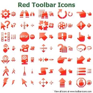 Red Toolbar Icons Image