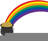 Clipart Gold Graphic Pot Rainbow Image