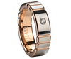 Mm Raised Rose Gold Plating Center Zircon Tungsten Wending Band Image