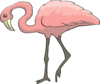 Curious Flamingo Clip Art
