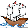 Christopher Columbus Ships Clipart Image