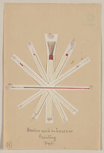 Brushes Used In Lacquer Painting, Fig. 5 Image