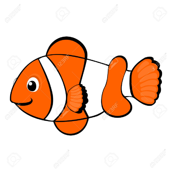 free clownfish clipart free images at clker com vector clip art rh clker com Clownfish Coloring Pages cute clownfish clipart