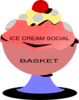 Ice Cream Social Basket Clip Art