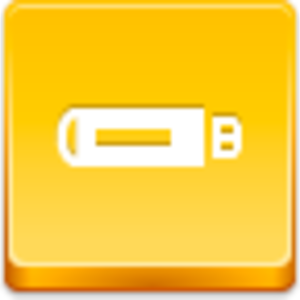 Free Yellow Button Flash Drive Image