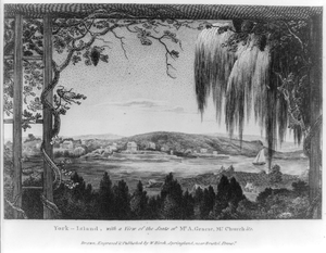 York-island, With A View Of The Seats Of Mr. A. Gracie, Mr. Church &c.  / Drawn, Engraved & Published By W. Birch, Springland Near Bristol, Penns A. Image