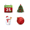 Christmas Magic Icons Set 4x32 Preview Image