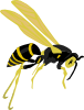 Flying Wasp 2 Clip Art