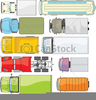 Bus Top View Clipart Image