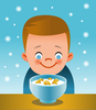 Eating Cereal Clipart Image