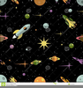 Stars And Planets Clipart Image