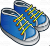 Baby Shoe Clipart Image