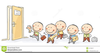 Children Standing In Line Clipart Image