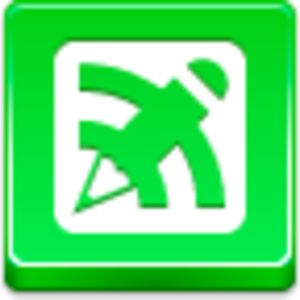 Blog Writing Button Icon Image