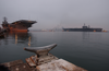 The Decommissioned Aircraft Carrier Uss Constellation (cv 64) Begins Its Transit From Naval Air Station North Island To Puget Sound Naval Shipyard Image