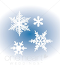 Falling Snowflake Clipart Image