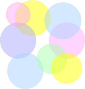 Pastel Colored Bubbles Clip Art