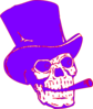 Skeleton Purple Red Clip Art