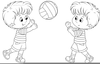Clipart Fan Coloring Page Image