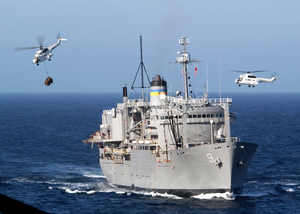 Military Sealift Command Vertrep Image
