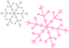 Ornament Snowflakes Pink Gray Clip Art