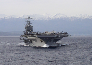Harry S. Truman Departs Souda Bay Image